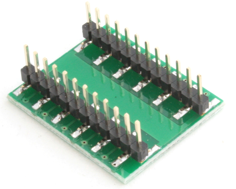 QFN-20 to DIP-24 SMT Adapter (0.45 mm pitch, 3.0 x 3.0 mm body) 1
