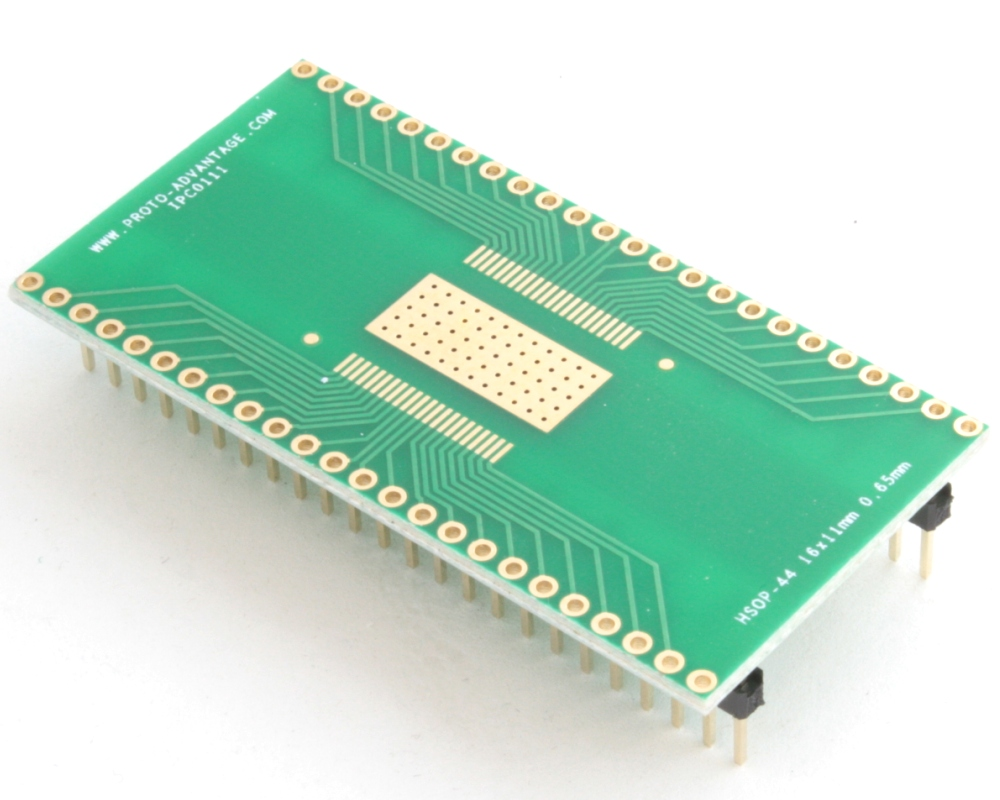 HSOP-44 to DIP-48 SMT Adapter (0.65 mm pitch, 16 x 11 mm body) 0