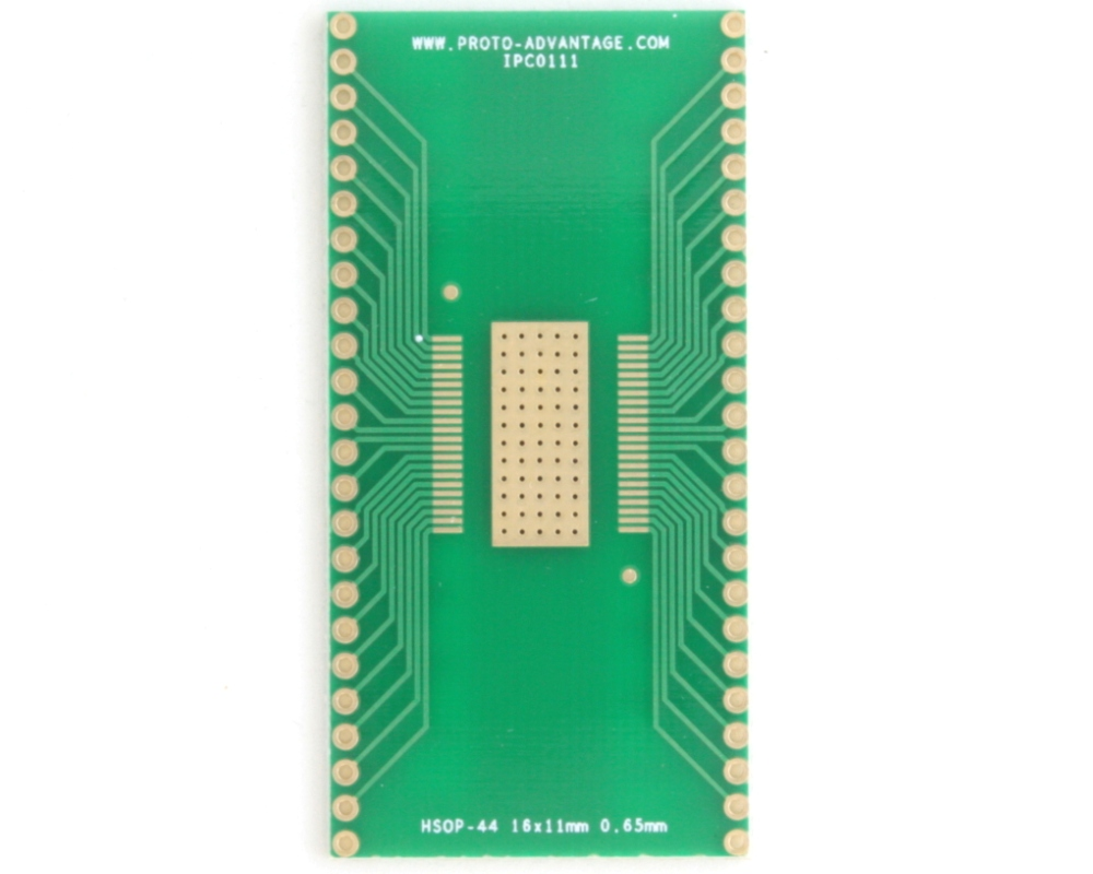 HSOP-44 to DIP-48 SMT Adapter (0.65 mm pitch, 16 x 11 mm body) 2