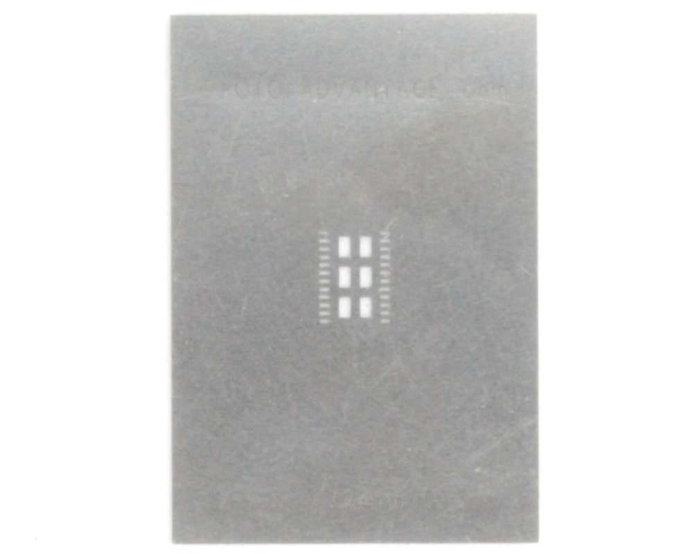 DFN-24 (0.5 mm pitch, 7.0 x 4.0 mm body) Stainless Steel Stencil 0