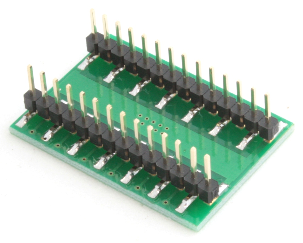 DFN-24 to DIP-28 SMT Adapter (0.5 mm pitch, 7.0 x 4.0 mm body) 1