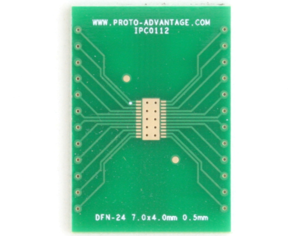 DFN-24 to DIP-28 SMT Adapter (0.5 mm pitch, 7.0 x 4.0 mm body) 2