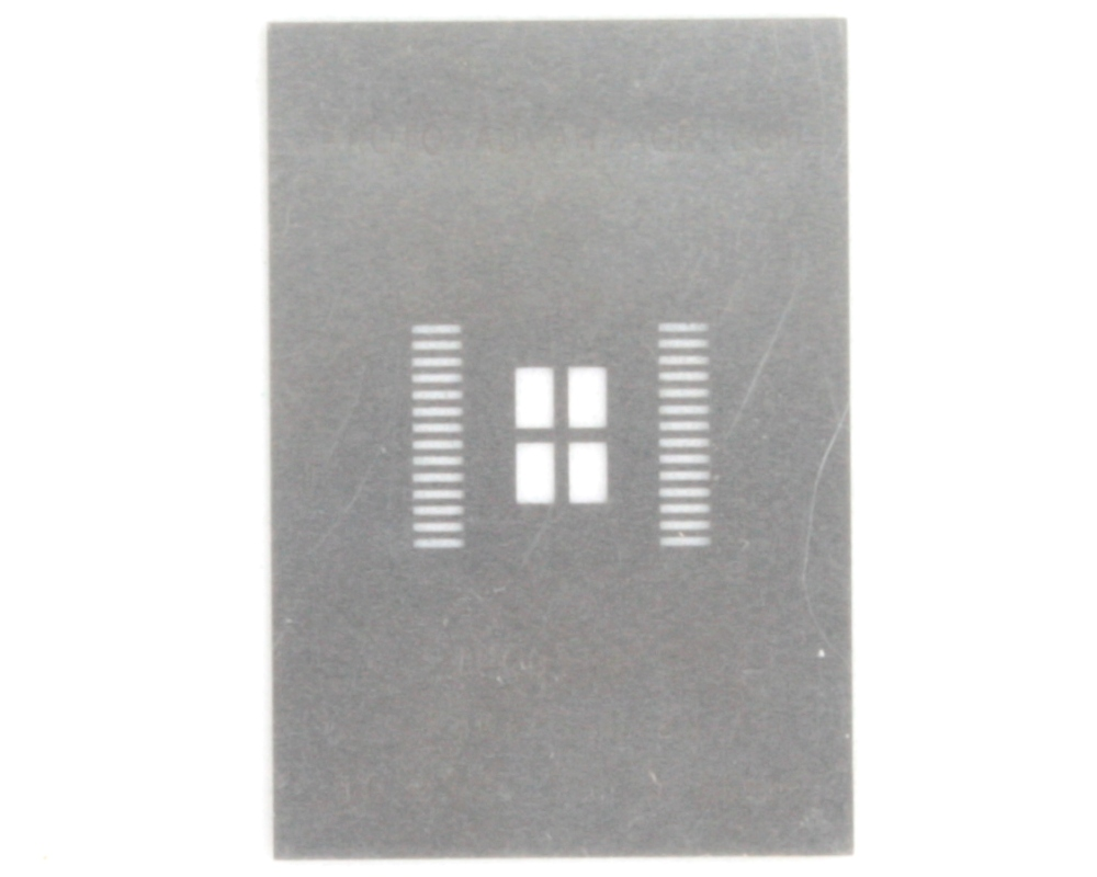 PowerSSO-28 (0.65 mm pitch, 10.35 x 7.5 mm body) Stainless Steel Stencil 0