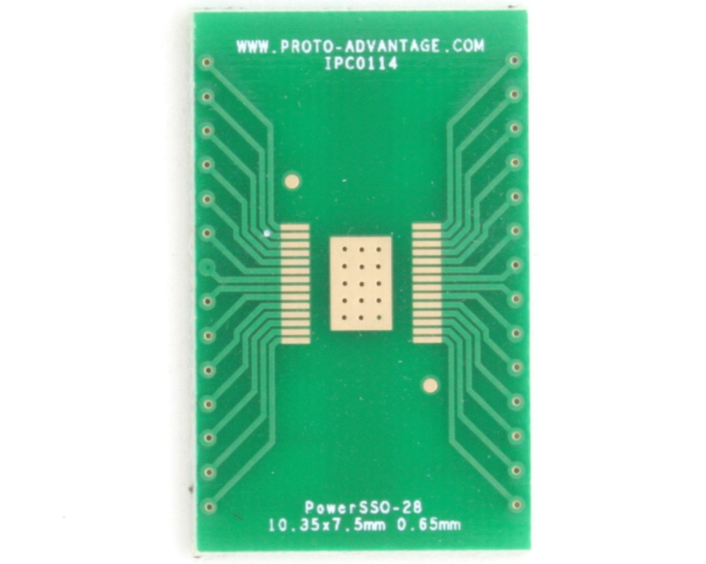 PowerSSO-28 to DIP-32 SMT Adapter (0.65 mm pitch, 10.35 x 7.5 mm body) 2