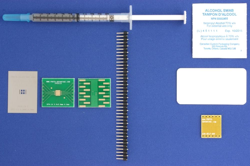 DFN-14 (0.5 mm pitch, 5.0 x 5.0 mm body) PCB and Stencil Kit 0