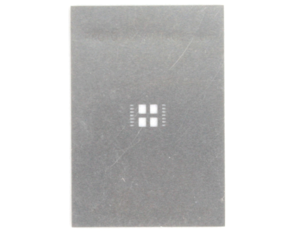 DFN-14 (0.5 mm pitch, 5.0 x 5.0 mm body) Stainless Steel Stencil 0