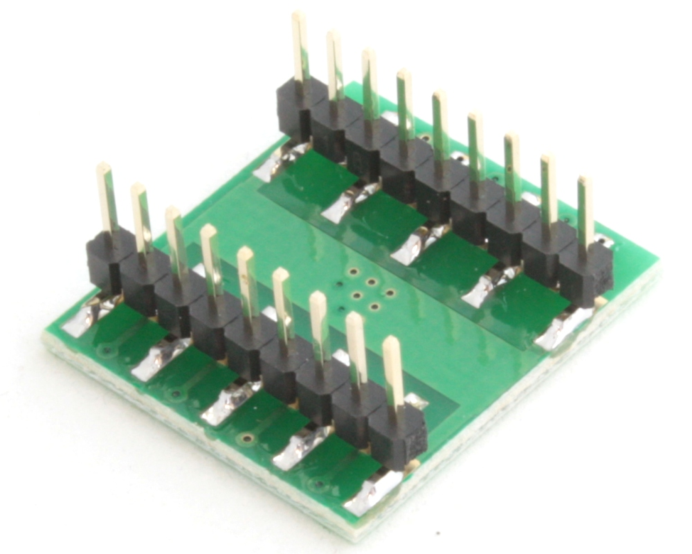 DFN-14 to DIP-18 SMT Adapter (0.5 mm pitch, 5.0 x 5.0 mm body) 1