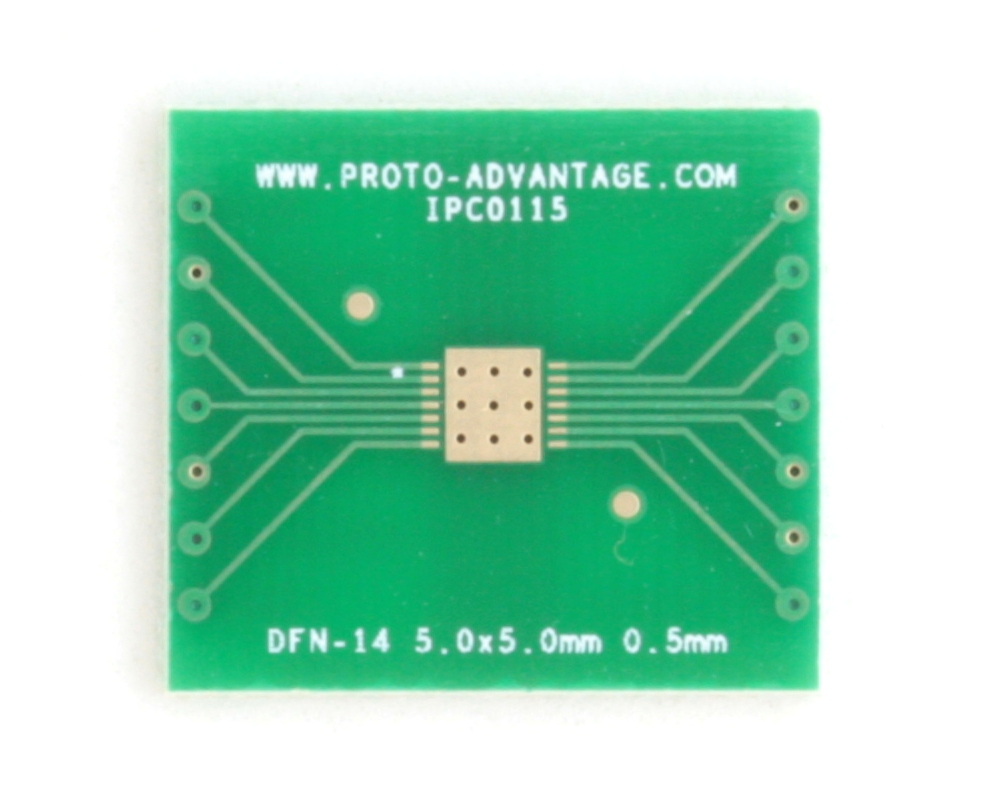 DFN-14 to DIP-18 SMT Adapter (0.5 mm pitch, 5.0 x 5.0 mm body) 2