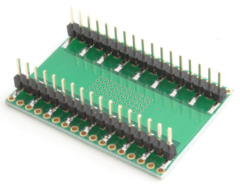 HSOP-30 to DIP-34 SMT Adapter (0.8 mm pitch, 16 x 11 mm body) 1