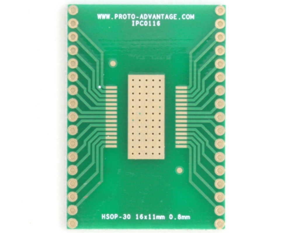 HSOP-30 to DIP-34 SMT Adapter (0.8 mm pitch, 16 x 11 mm body) 2