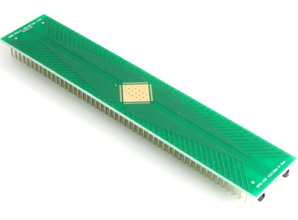 Proto Advantage - QFN-100 to DIP-104 SMT Adapter (0 4 mm pitch, 12 x