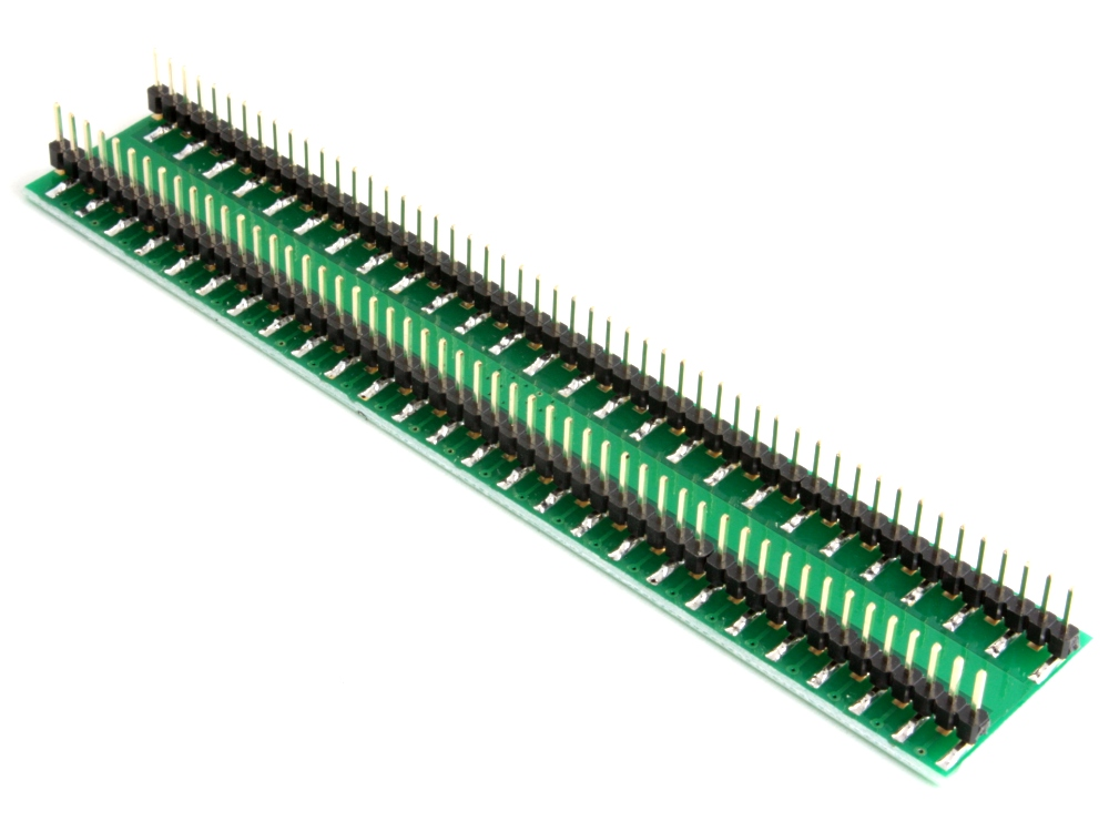 QFN-100 to DIP-104 SMT Adapter (0.4 mm pitch, 12 x 12 mm body) 1