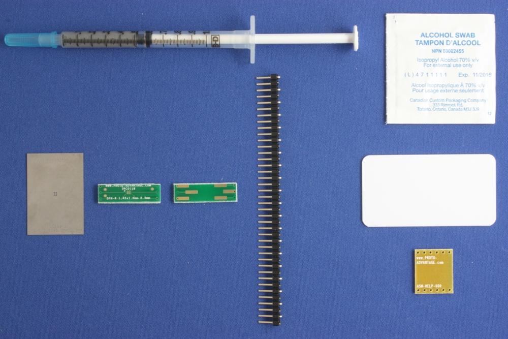 DFN-6 (0.5 mm pitch, 1.45 x 1.0 mm body) PCB and Stencil Kit 0