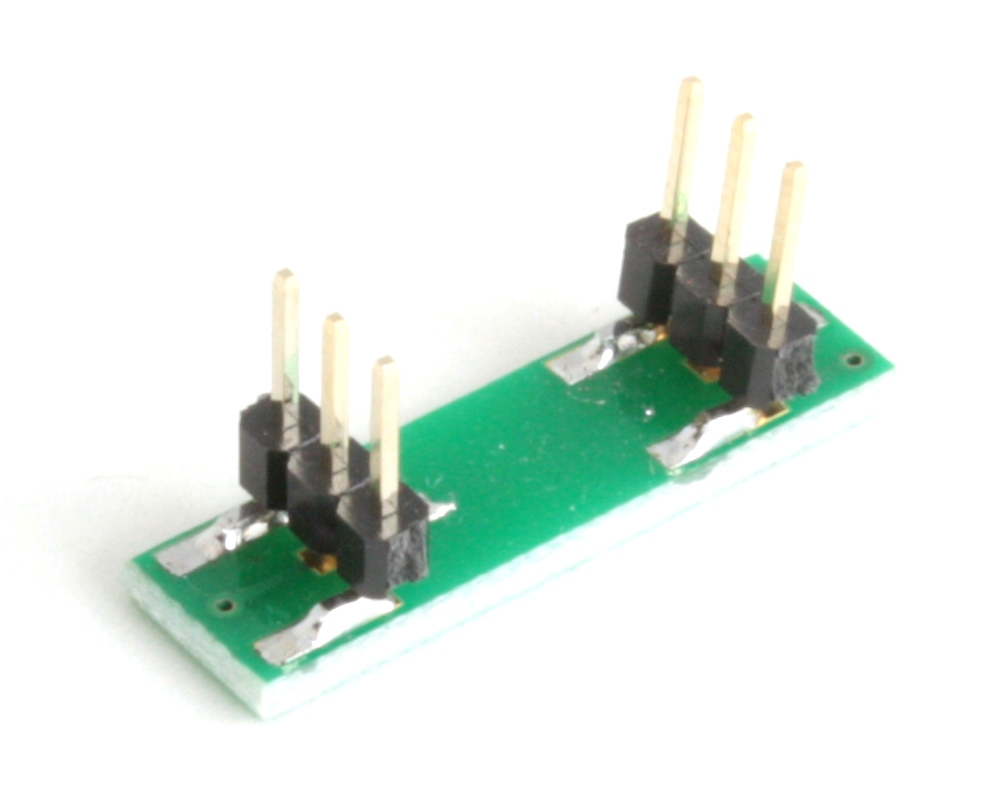 DFN-6 to DIP-6 SMT Adapter (0.5 mm pitch, 1.45 x 1.0 mm body) 1