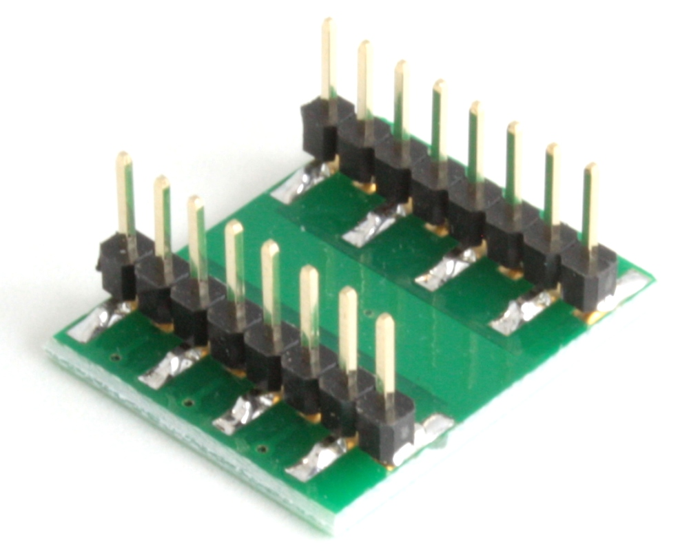 DFN-12 to DIP-16 SMT Adapter (0.45 mm pitch, 3.0 x 3.0 mm body) 1