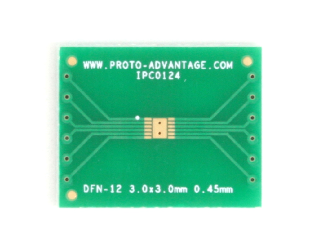 DFN-12 to DIP-16 SMT Adapter (0.45 mm pitch, 3.0 x 3.0 mm body) 2