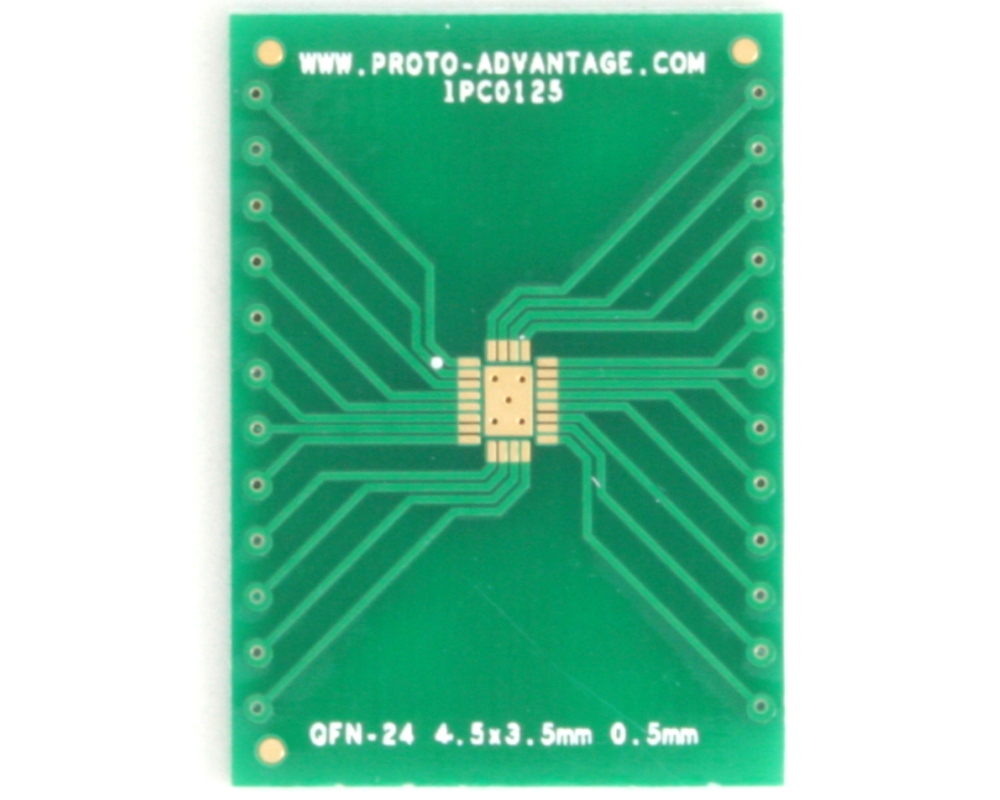 QFN-24 to DIP-28 SMT Adapter (0.5 mm pitch, 4.5 x 3.5 mm body) 2