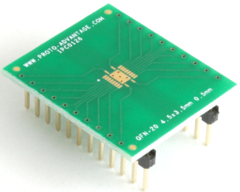 QFN-20 to DIP-24 SMT Adapter (0.5 mm pitch, 4.5 x 3.5 mm body) 0