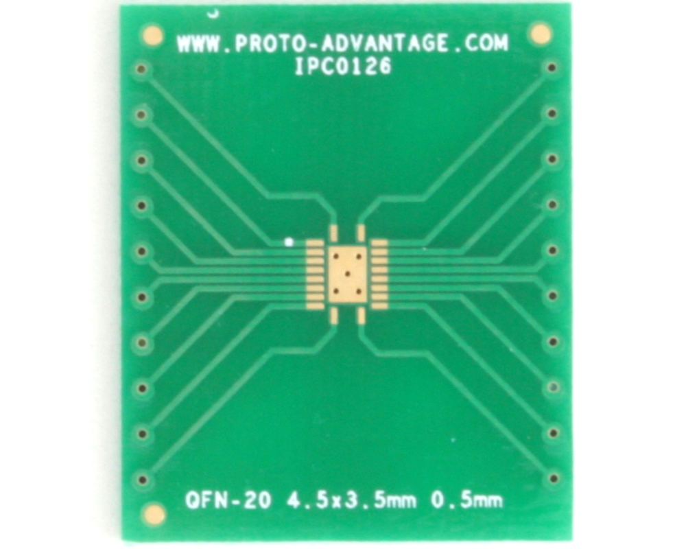 QFN-20 to DIP-24 SMT Adapter (0.5 mm pitch, 4.5 x 3.5 mm body) 2