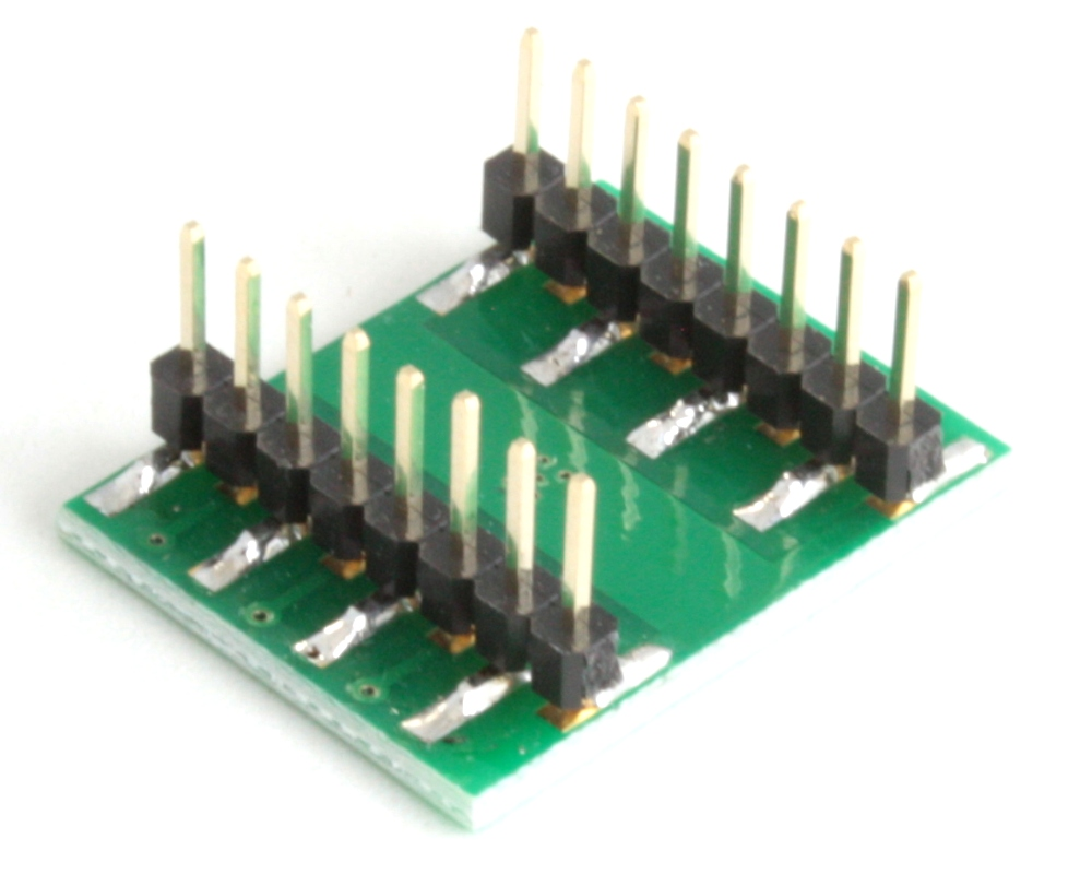 DFN-12 to DIP-16 SMT Adapter (0.4 mm pitch, 2.5 x 4.0 mm body) 1
