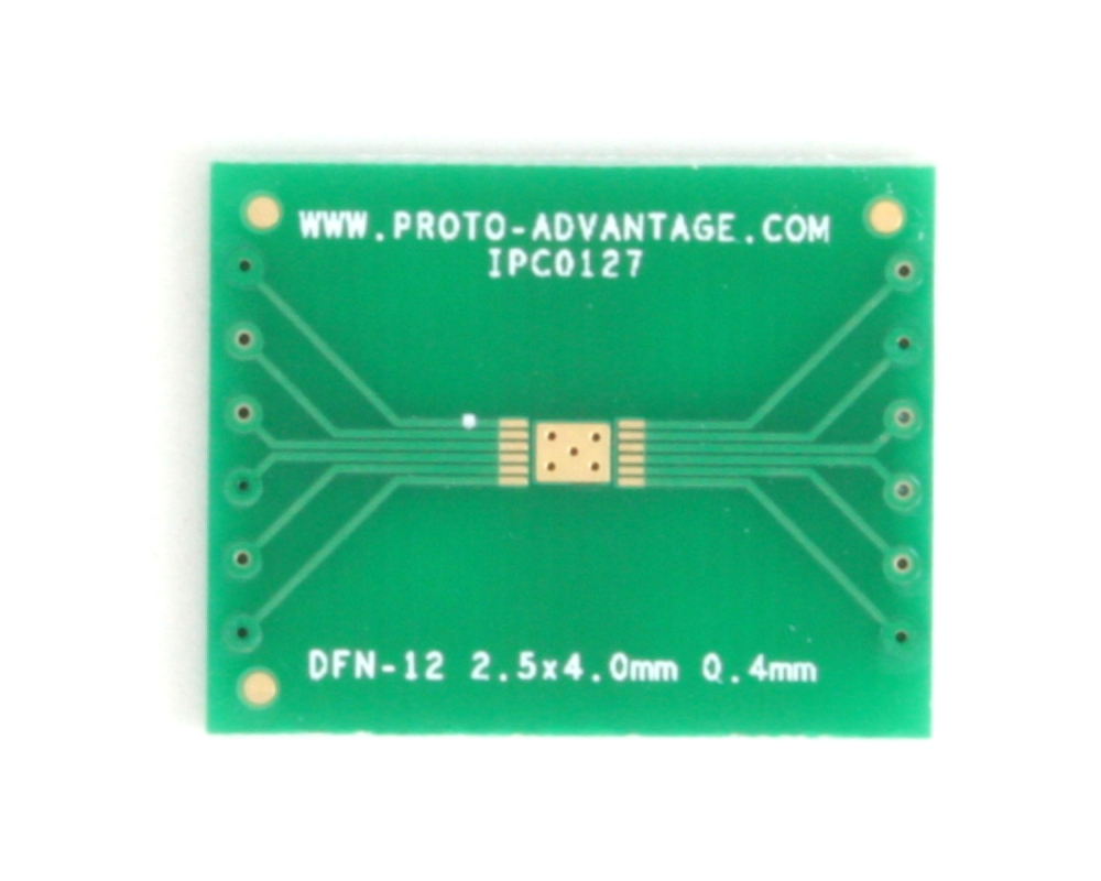 DFN-12 to DIP-16 SMT Adapter (0.4 mm pitch, 2.5 x 4.0 mm body) 2