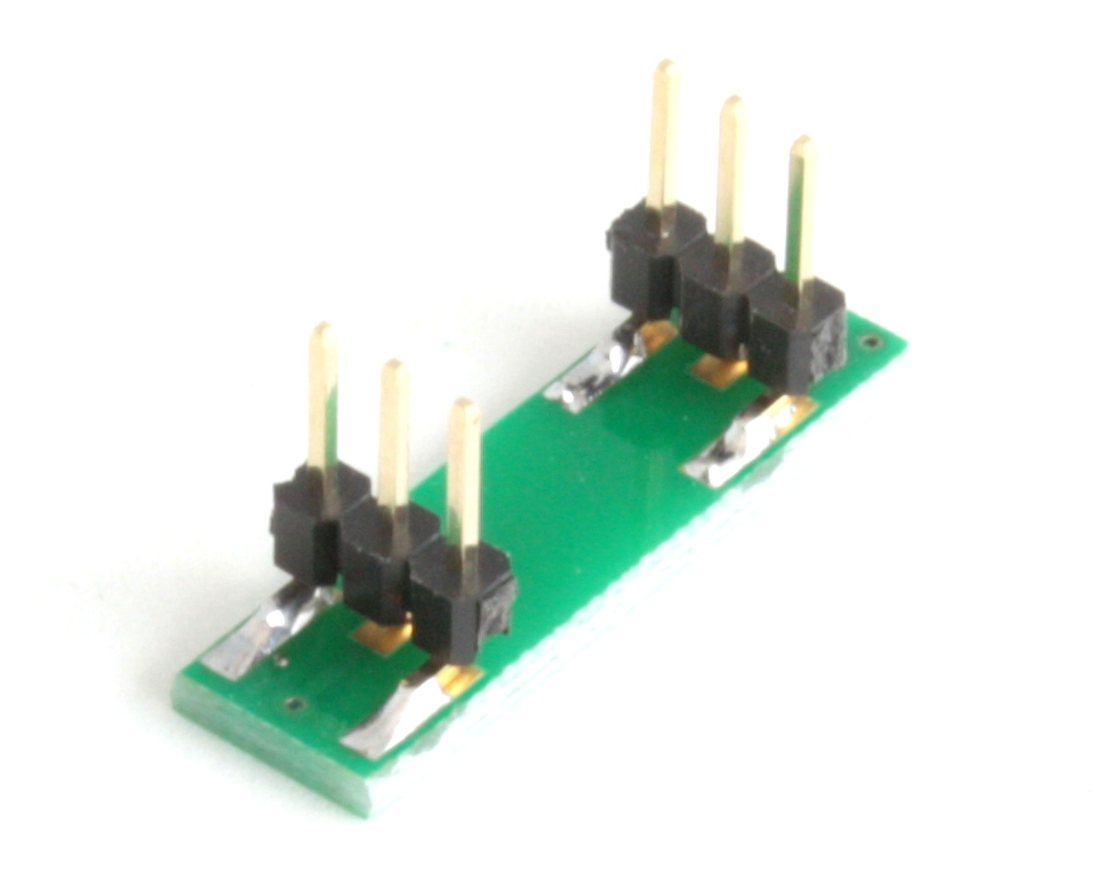SOT-886 to DIP-6 SMT Adapter (0.5 mm pitch, 1.35 x 1.0 mm body) 1