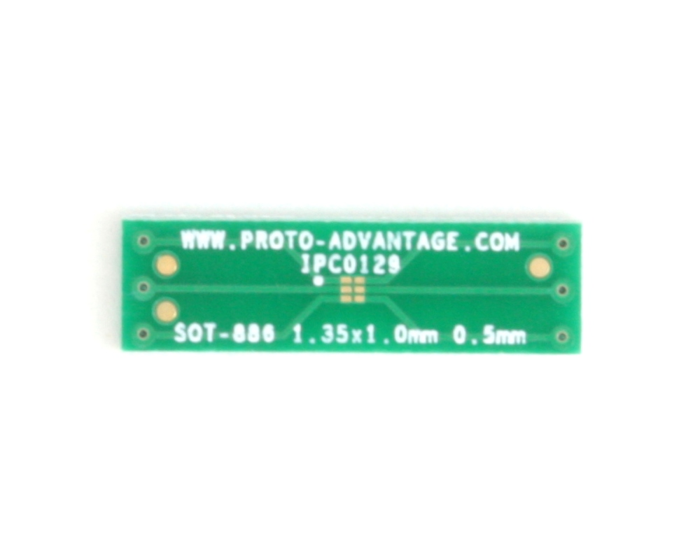 SOT-886 to DIP-6 SMT Adapter (0.5 mm pitch, 1.35 x 1.0 mm body) 2
