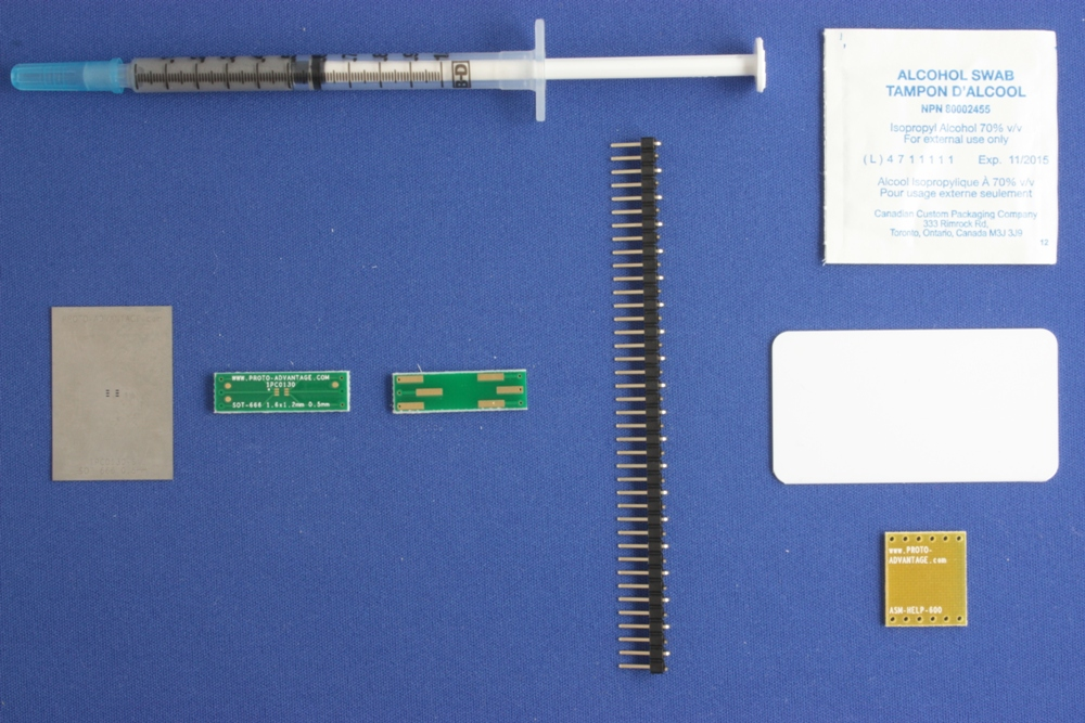 SOT-666 (0.5 mm pitch, 1.6 x 1.2 mm body) PCB and Stencil Kit 0