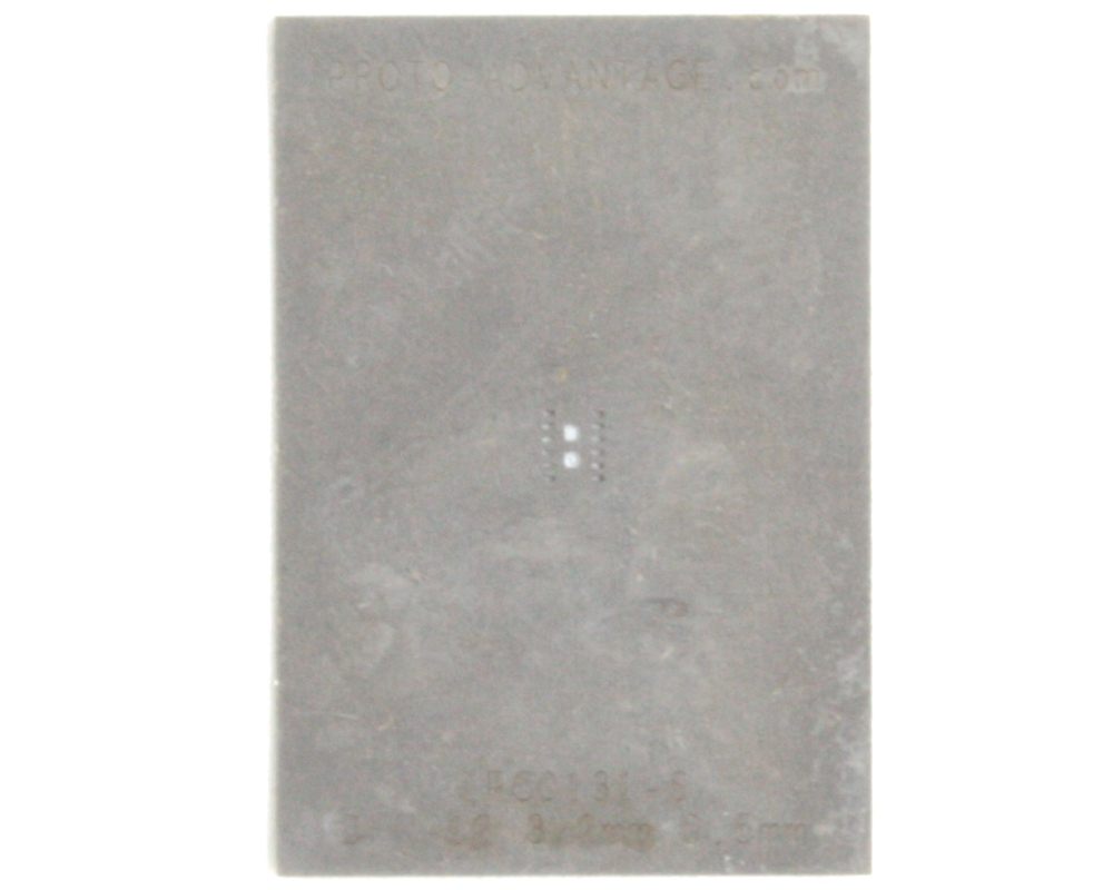DFN-12 (0.5 mm pitch, 3 x 2 mm body) Stainless Steel Stencil 0