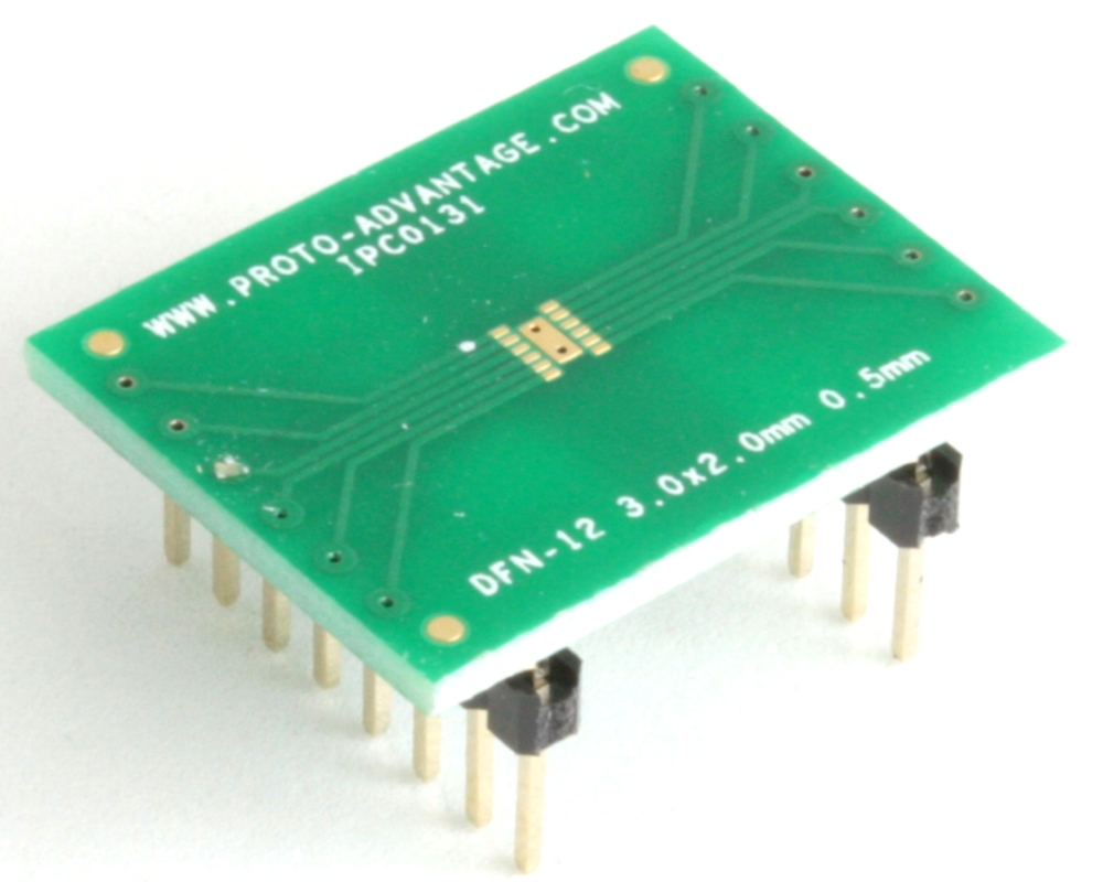 DFN-12 to DIP-16 SMT Adapter (0.5 mm pitch, 3 x 2 mm body) 0