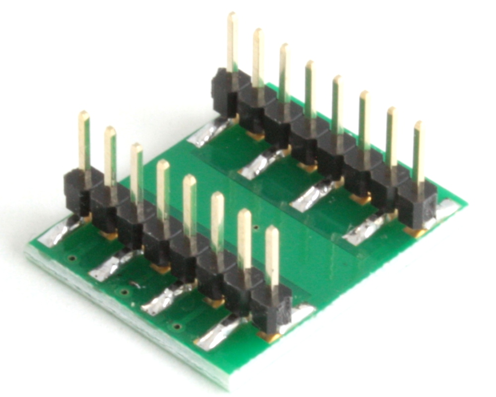 DFN-12 to DIP-16 SMT Adapter (0.5 mm pitch, 3 x 2 mm body) 1