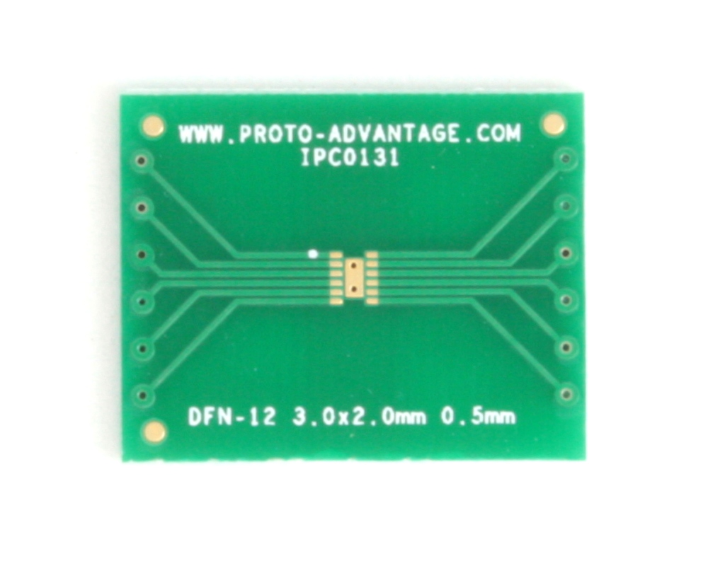 DFN-12 to DIP-16 SMT Adapter (0.5 mm pitch, 3 x 2 mm body) 2