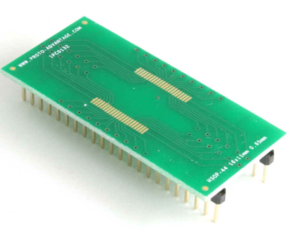 HSOP-44 to DIP-44 SMT Adapter (0.65 mm pitch, 16 x 11 mm body) 0