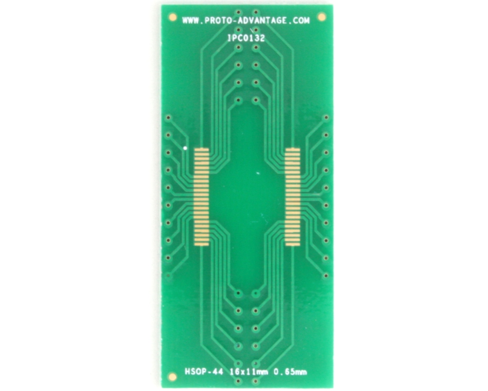HSOP-44 to DIP-44 SMT Adapter (0.65 mm pitch, 16 x 11 mm body) 2