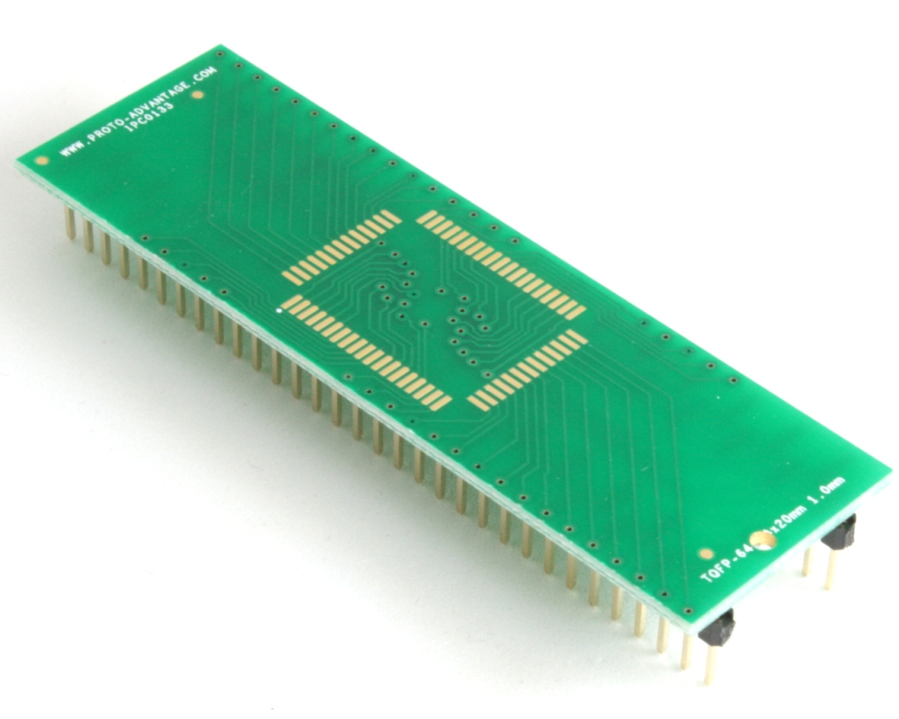 TQFP-64 to DIP-64 SMT Adapter (1.0 mm pitch, 14 x 20 mm body) 0