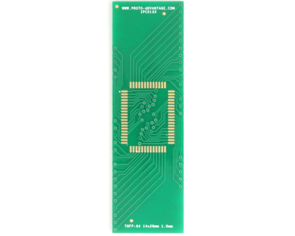 TQFP-64 to DIP-64 SMT Adapter (1.0 mm pitch, 14 x 20 mm body) 2