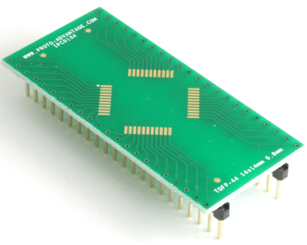 TQFP-44 to DIP-44 SMT Adapter (0.8 mm pitch, 14 x 14 mm body) 0