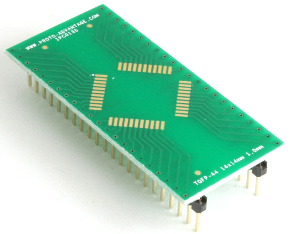 TQFP-44 to DIP-44 SMT Adapter (1.0 mm pitch, 14 x 14 mm body) 0