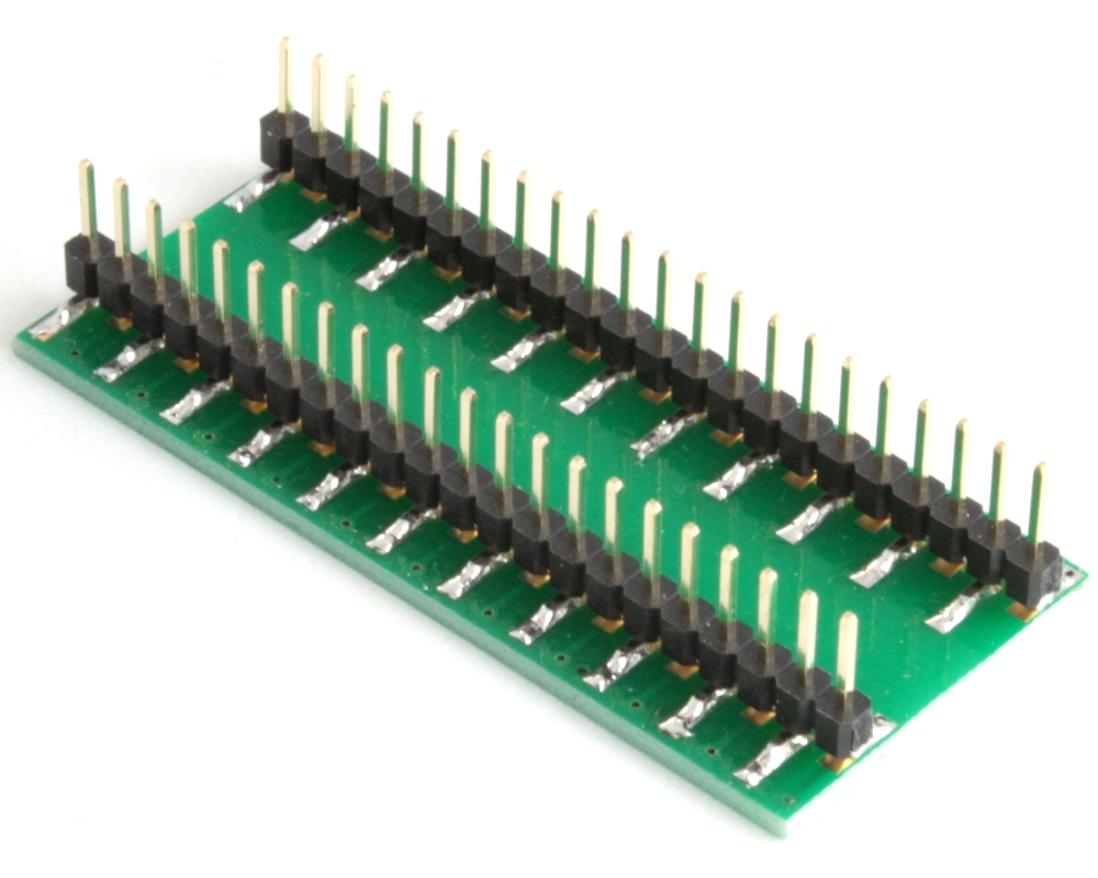 TQFP-44 to DIP-44 SMT Adapter (1.0 mm pitch, 14 x 14 mm body) 1