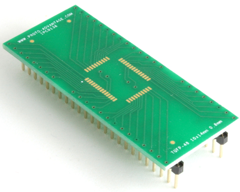 TQFP-48 to DIP-48 SMT Adapter (0.8 mm pitch, 10 x 14 mm body) 0