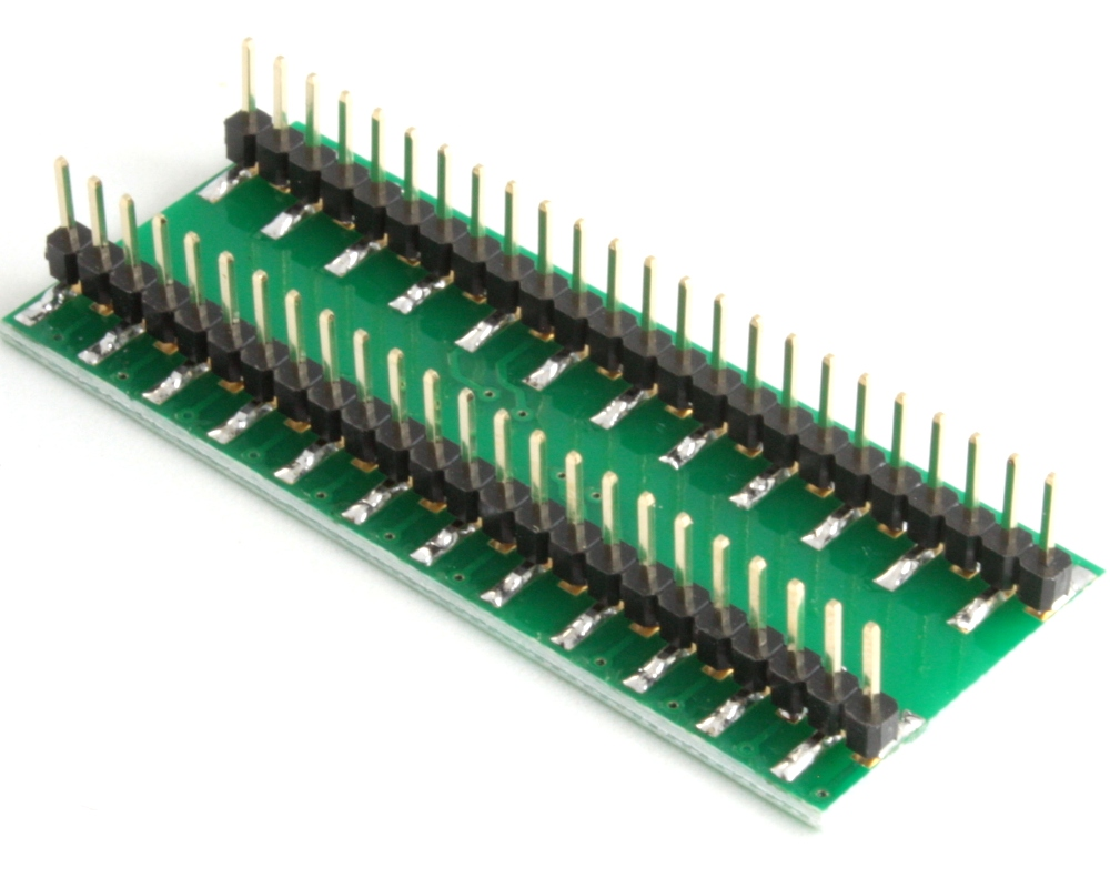 TQFP-48 to DIP-48 SMT Adapter (0.8 mm pitch, 10 x 14 mm body) 1