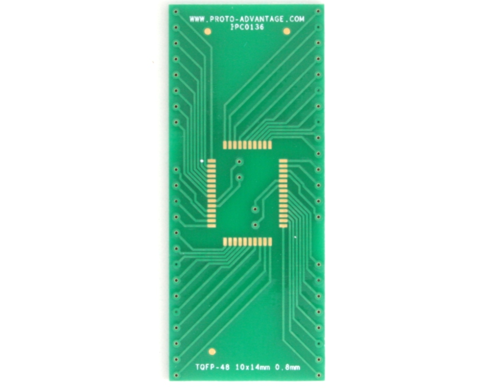 TQFP-48 to DIP-48 SMT Adapter (0.8 mm pitch, 10 x 14 mm body) 2
