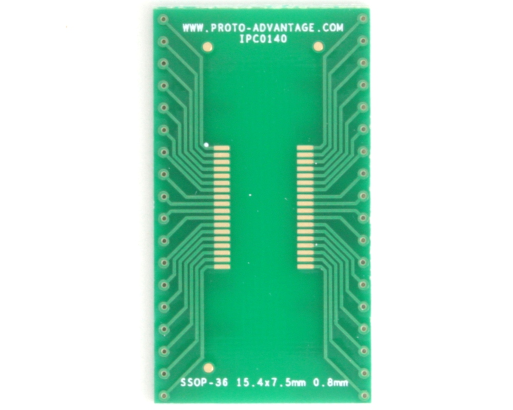 SSOP-36 to DIP-36 SMT Adapter (0.8 mm pitch, 15.4 x 7.5 mm body) 2