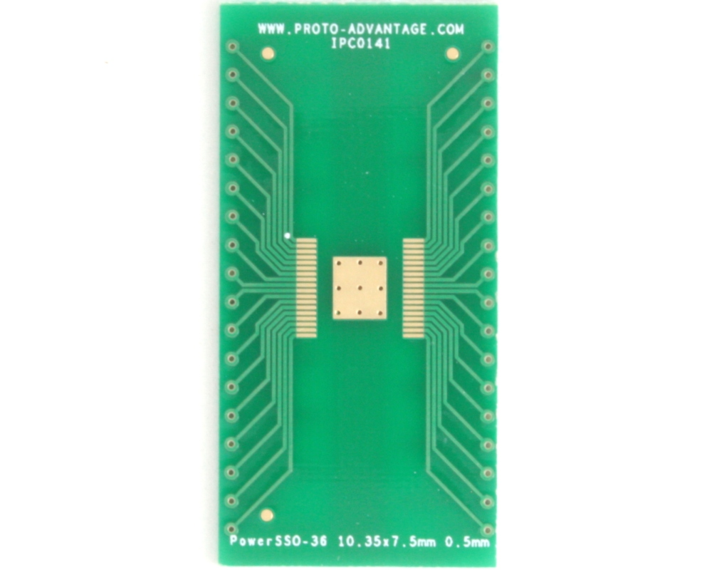 PowerSSO-36 to DIP-40 SMT Adapter (0.5 mm pitch, 10.35 x 7.5 mm body) 2