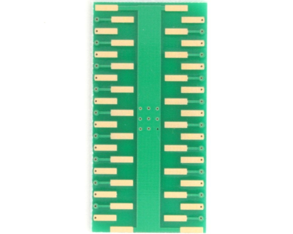 PowerSSO-36 to DIP-40 SMT Adapter (0.5 mm pitch, 10.35 x 7.5 mm body) 3