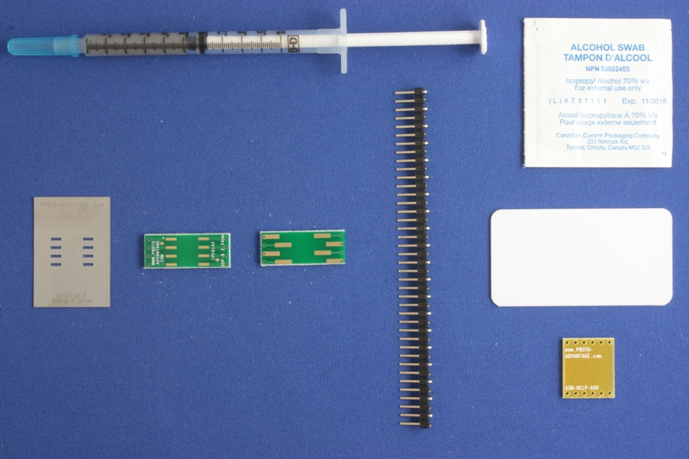 SOP-8 (2.54 mm pitch, 9.5 x 6.62 mm body) PCB and Stencil Kit 0