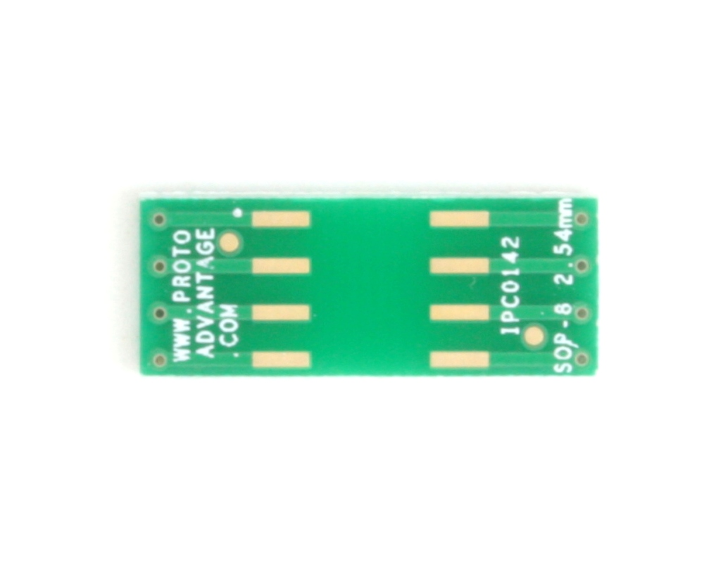 SOP-8 to DIP-8 SMT Adapter (2.54 mm pitch, 9.5 x 6.62 mm body) 2
