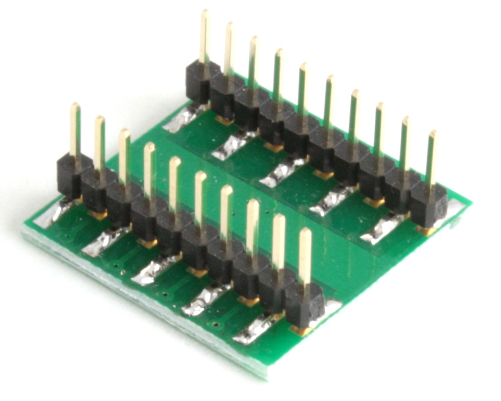 QFN-16 to DIP-20 SMT Adapter (0.65 mm pitch, 4 x 4 mm body) 1
