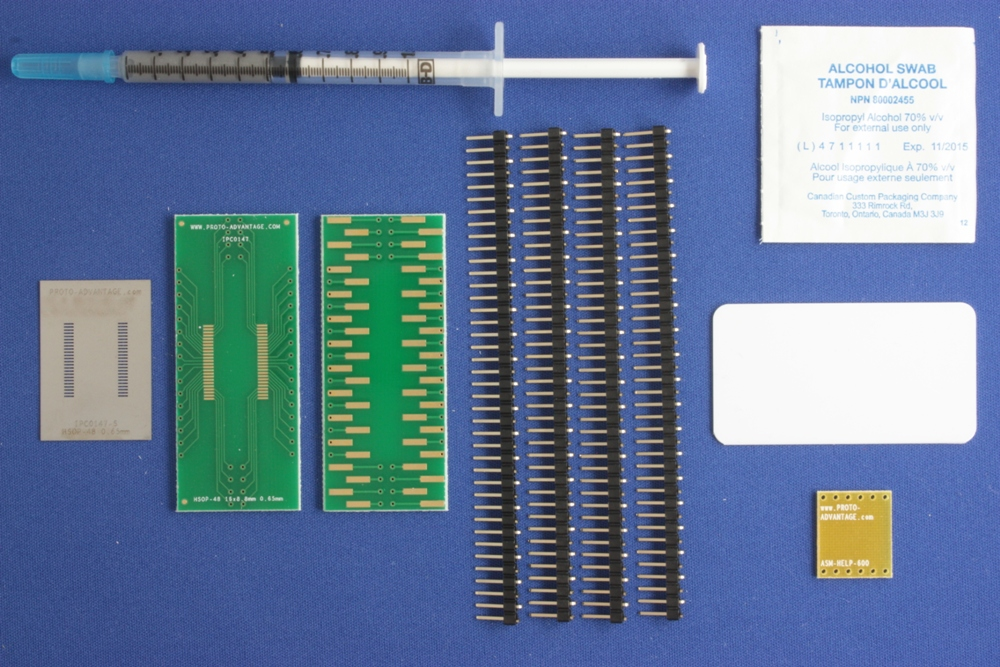 HSOP-48 (0.65 mm pitch, 16 x 8.8 mm body) PCB and Stencil Kit 0