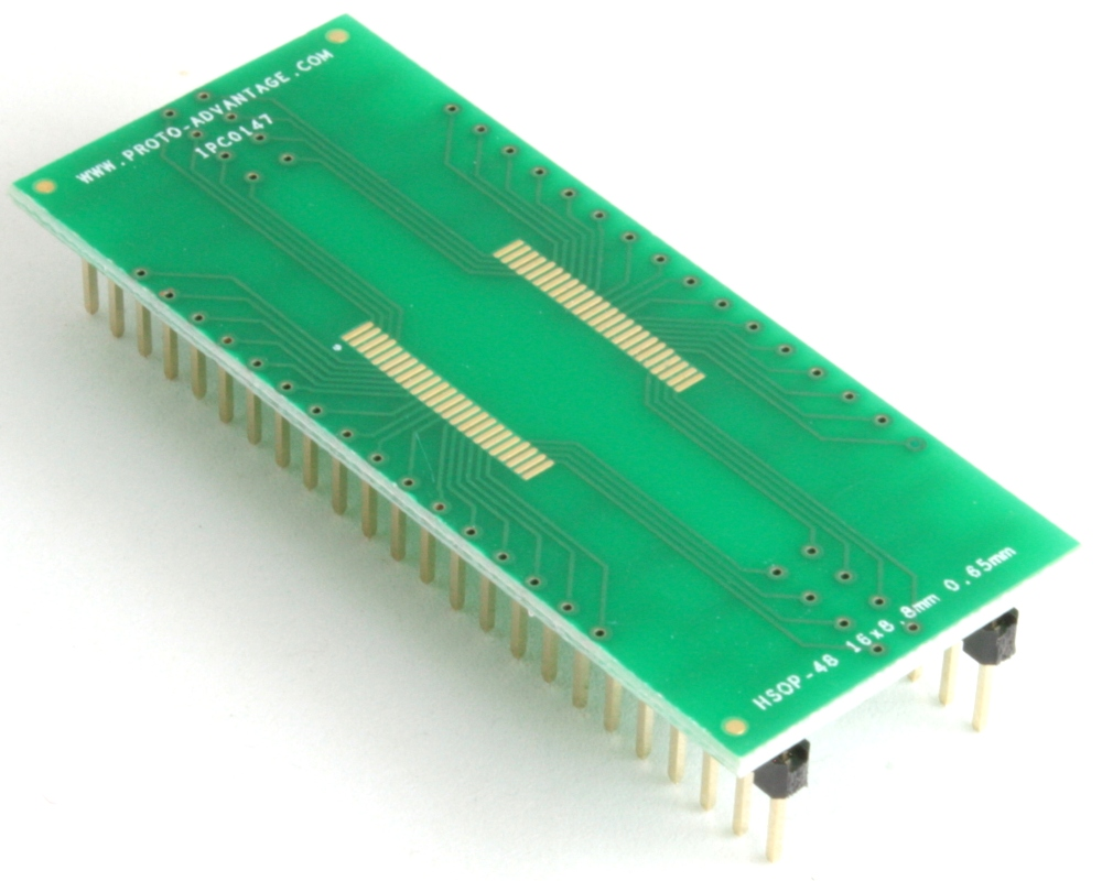 HSOP-48 to DIP-52 SMT Adapter (0.65 mm pitch, 16 x 8.8 mm body) 0